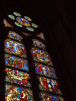 Brussels cathedral window