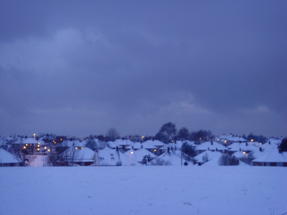 The little lights of Barkingside from Tomswood Hill, Claybury Park