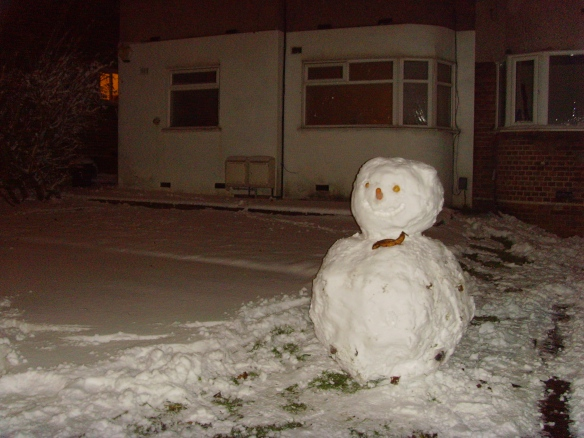 Snowman on Fullwell Avenue