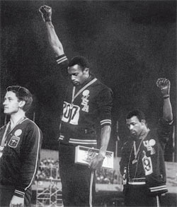 Tommie Jones and John Carlos, Mexico City Olympics, 1968